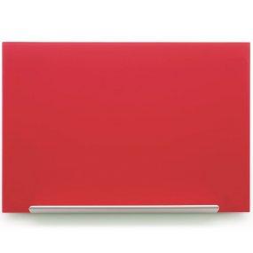 Skleněná tabule NOBO Diamond Glass, červená