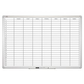 Plánovací tabule PlanTECH, týdenní, 90x60cm