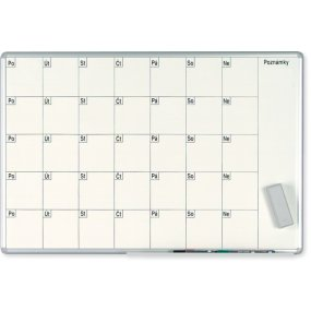 Plánovací tabule EkoTAB, měsíční, 100x70cm