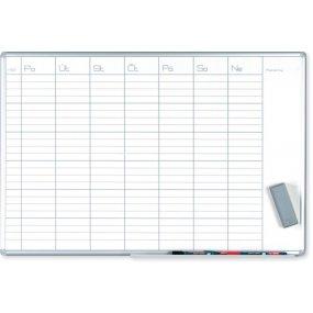 Plánovací tabule EkoTAB PRO, týdenní, 100x70cm