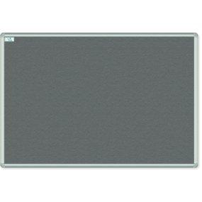 Textilní tabule EkoTAB, hliníkový rám, šedá