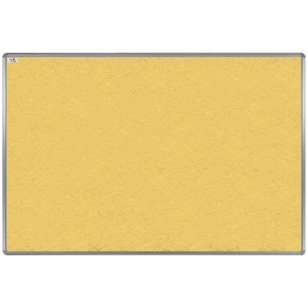 Textilní tabule EkoTAB, hliníkový rám, žlutá