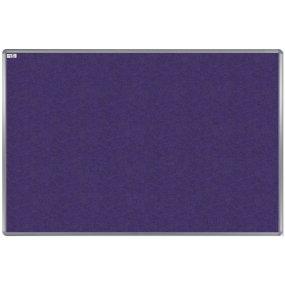 Textilní tabule EkoTAB, hliníkový rám, fialová