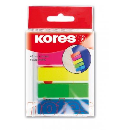 Neonové záložky Index Strips 45x12mm 5 barev 25 ls á barva