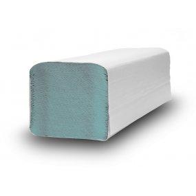 Papírové ručníky, Z-Z, 100% recykl, jednovrstvé, zelené, 250mmx230mm, 38g/m2, krabice 20 x 250 ks