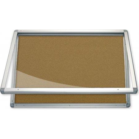 Vitrína vnitřní CaseTECH 8xA4, 90x60cm, korková