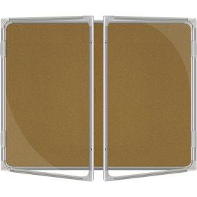 Vitrína vnitřní CaseTECH 32xA4, 180x120cm, korková