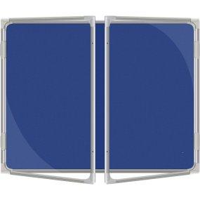 Vitrína vnitřní CaseTECH 32xA4, 180x120cm, filcová