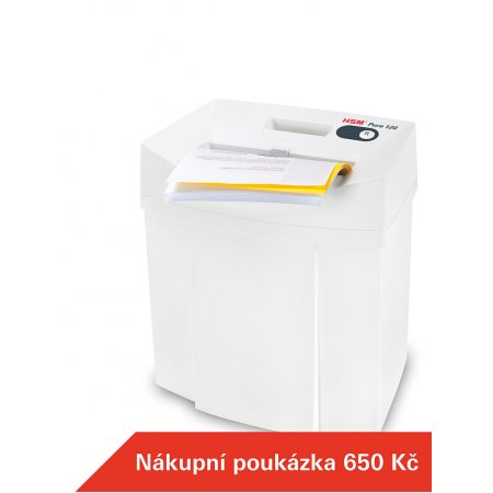 Skartovací stroj HSM Pure 120 3,9 mm + Dárek