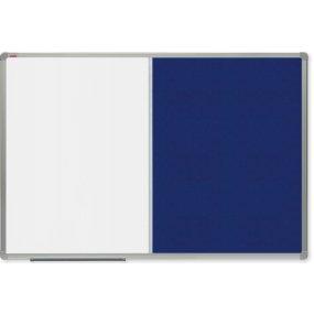 Kombinovaná tabule OfficeTECH lak/filc, 120x90cm, hliníkový rám