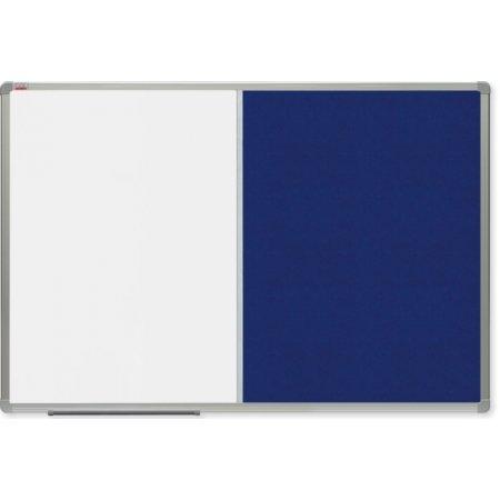 Kombinovaná tabule OfficeTECH lak/filc, 90x60cm, hliníkový rám