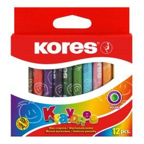 Voskovky Kores Krayones trojhranné 12 barev