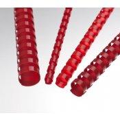 Plastové hřbety červené