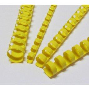 Plastové hřbety žluté