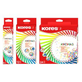Trojhranné pastelky KROMAS 3mm