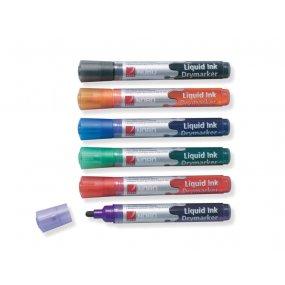 Popisovače NOBO 3-in-1 LIQUID INK tenký, barevný mix 6ks