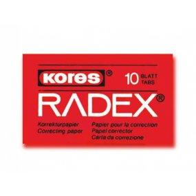 Opravné papírky Kores Radex 10ks