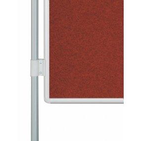 Oboustranná textilní tabule EkoTAB PARAVAN, červená