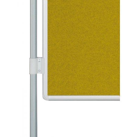 Oboustranná textilní tabule EkoTAB PARAVAN, žlutá