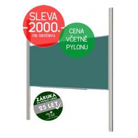Školní tabule EkoTAB, popis křídou + pylon jednoduchý AL