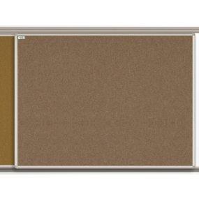 Textilní tabule EkoTAB pro lištový systém, hnědá