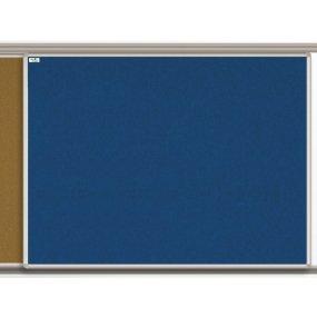 Textilní tabule EkoTAB pro lištový systém, modrá