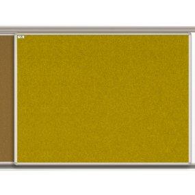 Textilní tabule EkoTAB pro lištový systém, žlutá
