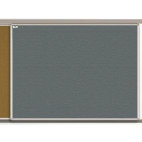 Textilní tabule EkoTAB pro lištový systém, šedá