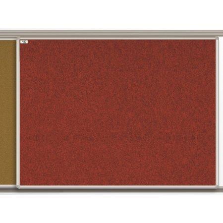 Textilní tabule EkoTAB pro lištový systém, červená