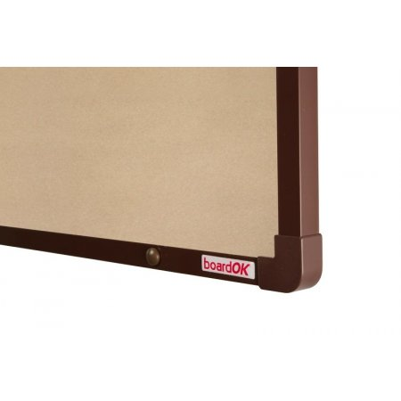 Textilní tabule boardOK béžová hnědý rám