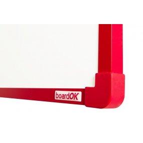 Magnetická tabule boardOK, červený rám