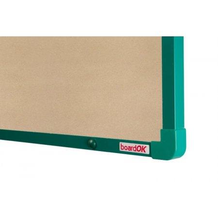 Textilní tabule boardOK béžová zelený rám