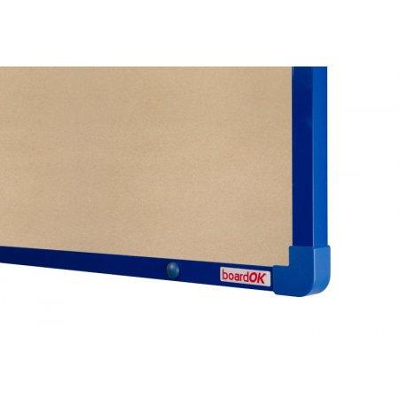 Textilní tabule boardOK béžová modrý rám