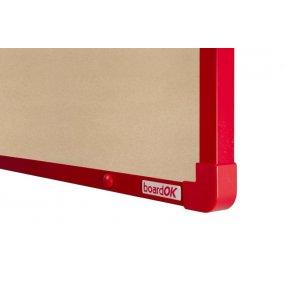Textilní tabule boardOK béžová červený rám