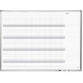 Plánovací tabule PlanTECH, roční, 120x90cm