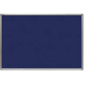 Filcová tabule OfficeTECH, modrá, hliníkový rám