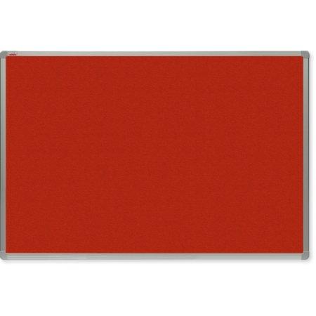 Filcová tabule OfficeTECH, červená, hliníkový rám