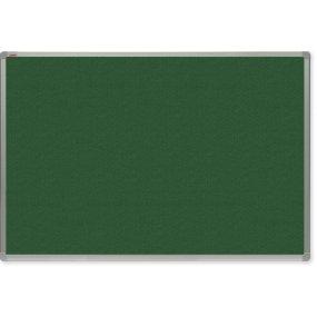 Filcová tabule OfficeTECH, zelená, hliníkový rám