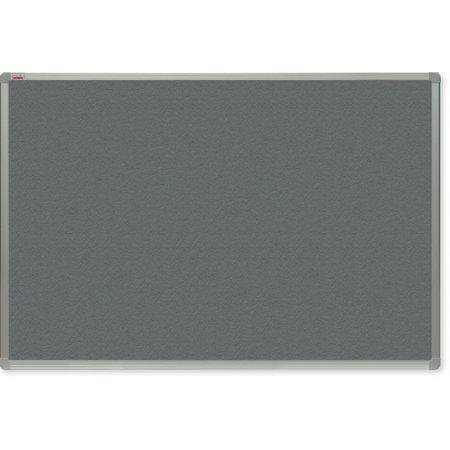 Filcová tabule OfficeTECH, šedá, hliníkový rám