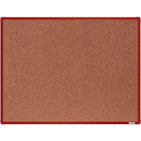 Korková tabule boardOK, červený rám